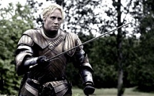 "Brienne played by Gwendoline Christie is just one example of many different ""strong women"" in Game of Thrones. Photo credit: HBO Inc."