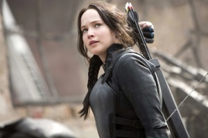 Jennifer Lawrence as Katniss Everdeen in the recent Mockingjay Part 1 is influential among the young generation. Photo credit: Murray Close, Liongate.