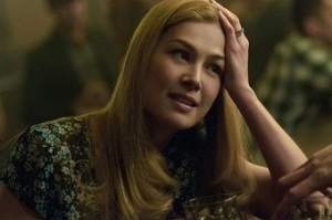 Amy Elliot Dunne played by Rosamund Pike in Gone Girl is an example of a complex female character showing stereotypical female traits but also shows that women can be villains, pushed by society and ideals, behind a pretty face. Photo credit: Merrick Morton, 20th century fox and Regency Enterprises.