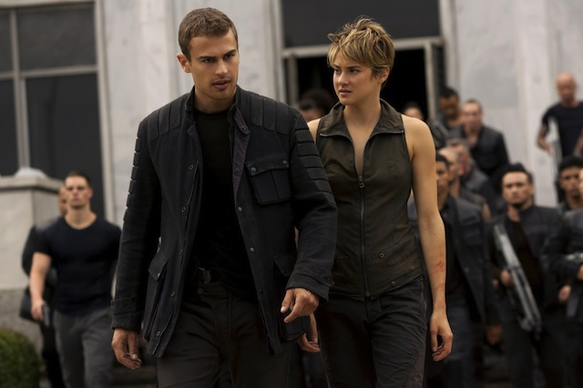James and Shailene Woodley in Divergent: Insurgent. Photo Credit: Lionsgate