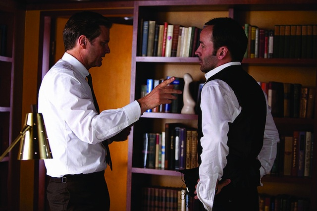 """Tom Ford and Colin Firth on the set of """"A Single Man"""""""
