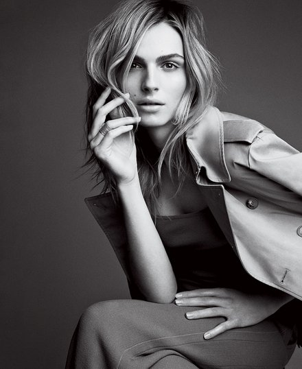Andreja Pejić appearing in her Vogue spread in May 2015 Photo Credit: Vogue