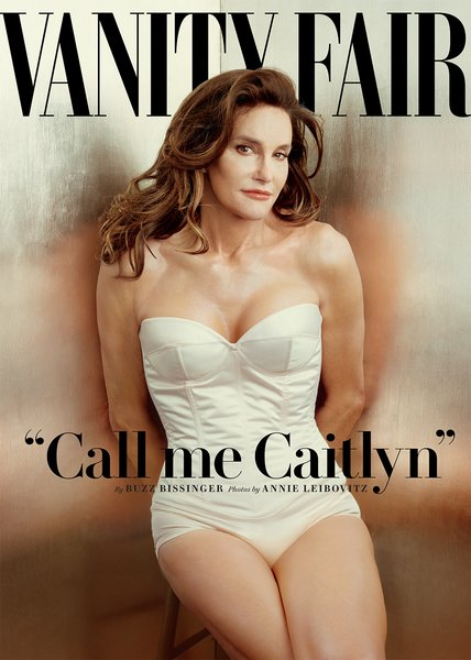 Caitlyn Jenner's front cover of Vanity Fair's June 2015 issue.  Photo Credit: Vanity Fair