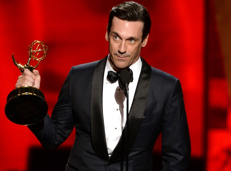 Hamm won an Emmy for Outstanding Lead Actor in Mad Men. Credit: eonline.com