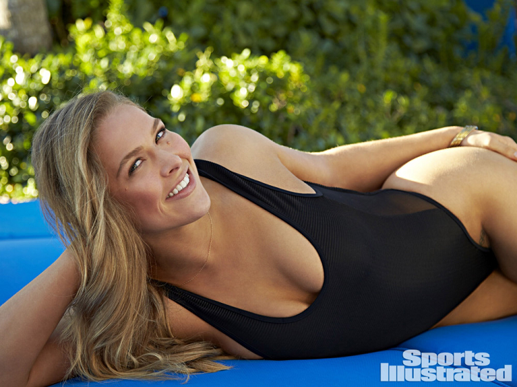 Rousey is just as beautiful as she is strong