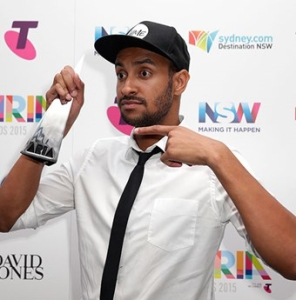 Matt Okine spoke out against gender inequality at the 2015 ARIA Awards. Photo Credit: Elle