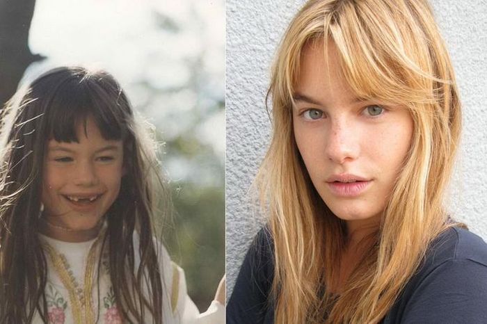 Camille Rowe - then and now. Image Credit: The Count