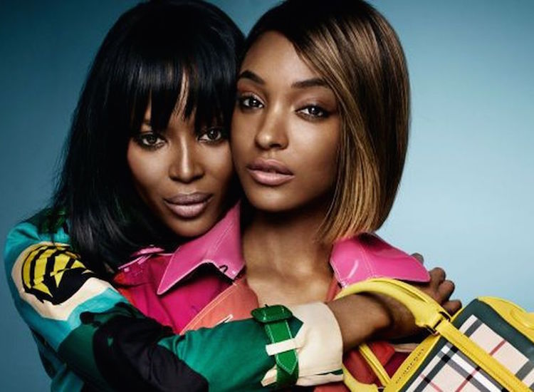 Naomi Campbell and Jourdan Dunn are represented by model agencies accused of price-fixing. Photo Credit: Burberry.