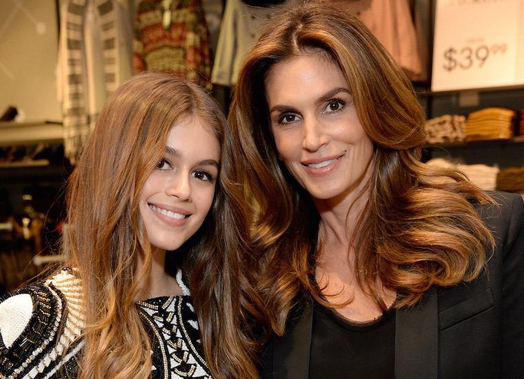 Kaia Gerber is following in her mother Cindy Crawford's footsteps. Photo Credit: Getty Images.
