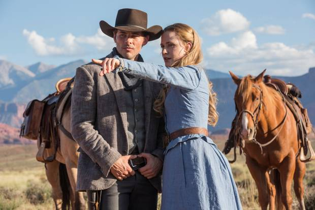 James Marsden and Evan Rachel Wood star In HBO's science-fiction thriller Westworld