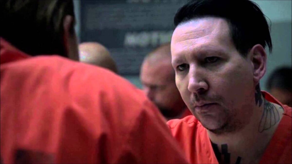 """Marilyn Manson as a Neo-Nazi in """"Sons of Anarchy"""". Photo credit: FX 