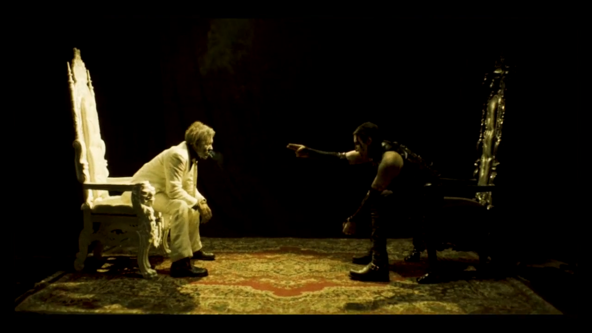 """Marilyn Manson and Johnny Depp in the """"SAY10"""" music video. Photo credit: Marilyn Manson."""